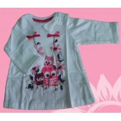 Camiseta manga larga bebé y recién nacido niña buhos, de la marca Newness