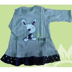 Camiseta manga larga bebé y recién nacido niña sweet little bunny, de la marca Newness