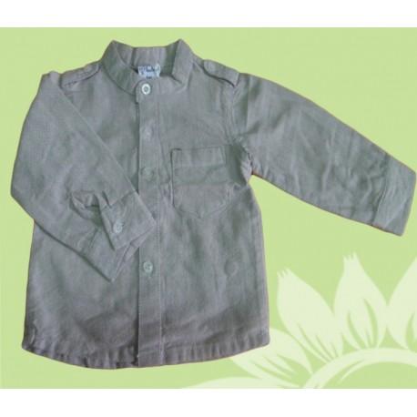 Camisas de manga larga para bebés y recién nacidos niños beige de la marca newness