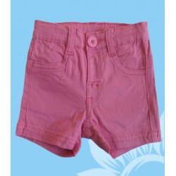 Pantalon corto bebé niña fucsia