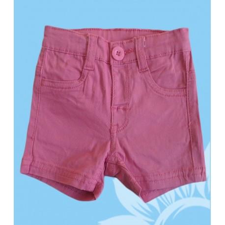 Pantalones cortos vaqueros bebés y recién nacidos niñas fucsia
