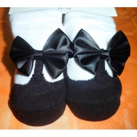 Calcetines bebé imitación zapato negro