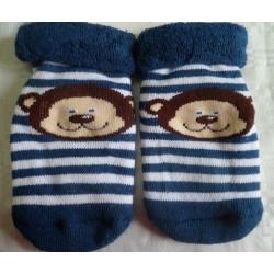 Calcetines bebé cara mono