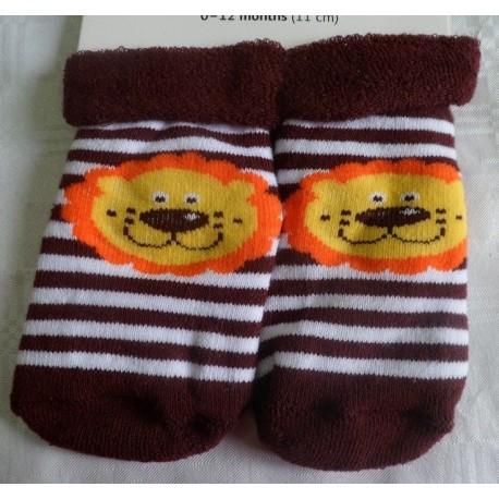 Calcetines bebé cara león