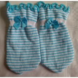Manoplas recién nacido antiarañazos rayas