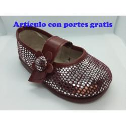 Bailarina bebé niña Flor Burdeos