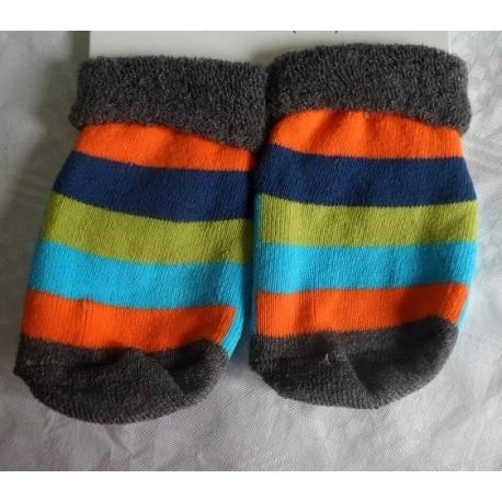Calcetines bebé antideslizante gris-celeste
