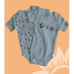 Pack 2 bodys bebés y recién nacidos niños herraduras manga corta verano