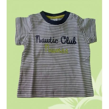 Camisetas bebés y recién nacidos niños nautic club manga corta de la marca Newness.