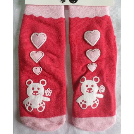 Calcetines bebé antideslizante oso