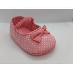 Bailarina rosa puntos recién nacida