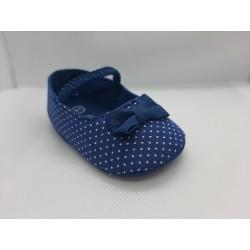 Bailarina azul vaquero puntos recién nacida