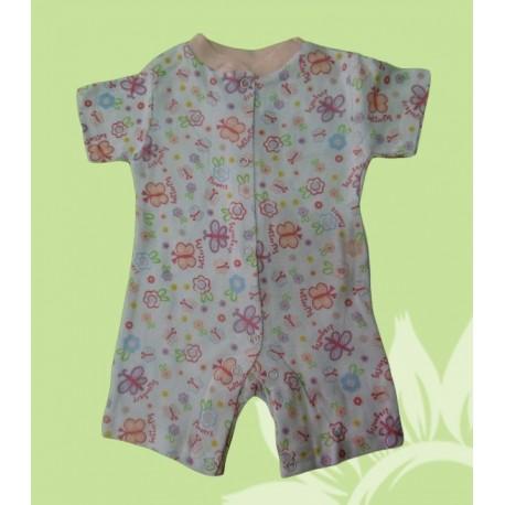 Pijamas cortos bebés y recién nacidas niñas mariposa verano