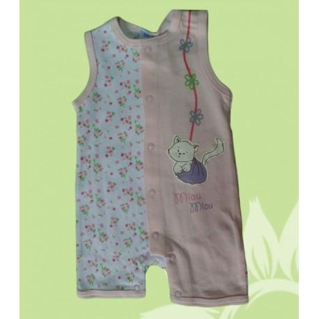 Pijamas bebés y recién nacidas niñas gatito tiras cortos verano