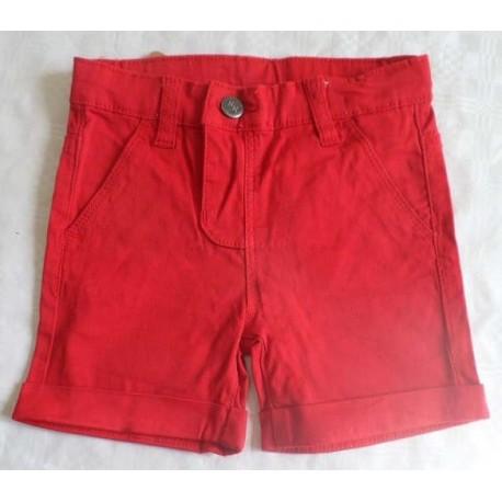 Pantalon corto bebé niño rojo
