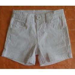 Pantalon corto bebé niño blanco
