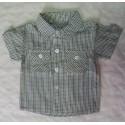 Camisa bebé niño cuadros verde