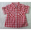 Camisa bebé niño cuadros roja