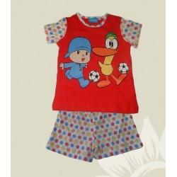 Pijama bebé niño Poco Yo corto verano