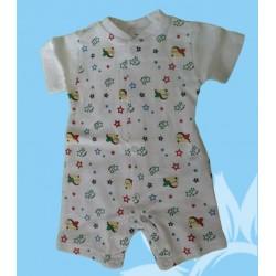 Pijama bebé y recién nacido niño caballitos manga corta verano