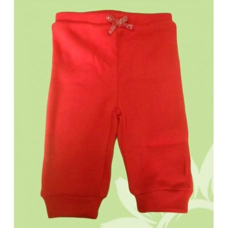 Pantalones chandal bebés y recién nacidas niñas rojo