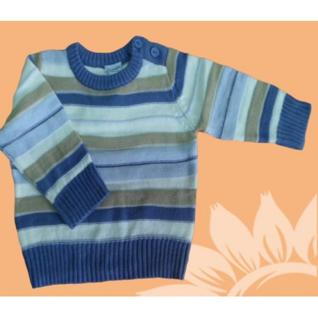 Jerseys manga larga infantiles bebés y recién nacidos niños rayas azul