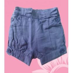 Pantalon corto bebé niña azul
