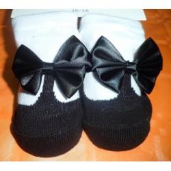 Calcetín bebé imitación zapato negro