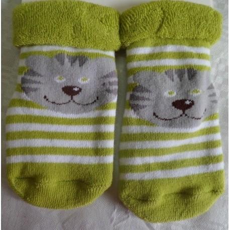 Calcetines bebé cara gato
