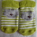 Calcetín bebé cara gato