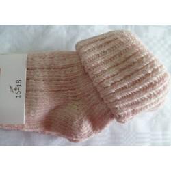 Calcetín bebé cuello rosa