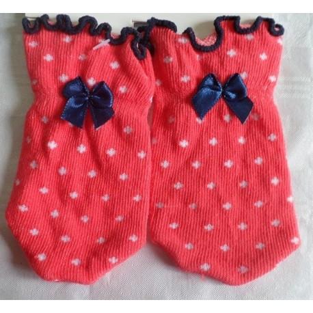 Manoplas recién nacido antiarañazos rojo