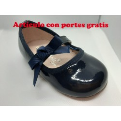 Bailarina bebé niña lazo Azul Marino