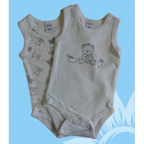 Pack 2 bodys bebés y recién nacidos niños ositos tirantes verano