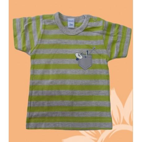 Camisetas bebés y recién nacidos niños a rayas manga corta