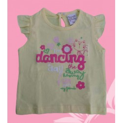 Camiseta bebé niña dancing amarilla