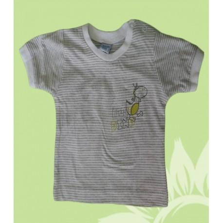 Camisetas bebés y recién nacidos niños little dino manga corta