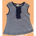 Camiseta bebé niña rayas marino