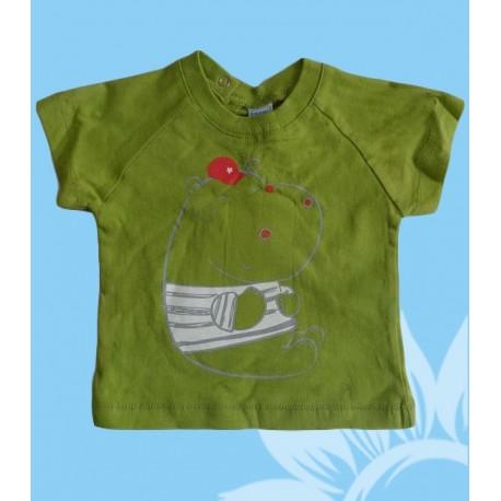 Camisetas bebés y recién nacidos niños hipopótamo manga corta