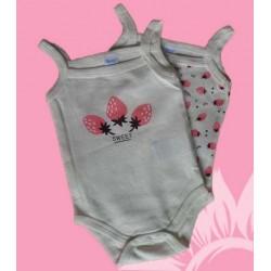 Pack 2 bodys bebé niña fresas