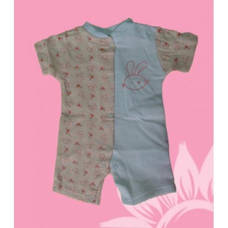 Pijamas bebés y recién nacidas niñas conejitos manga corta verano