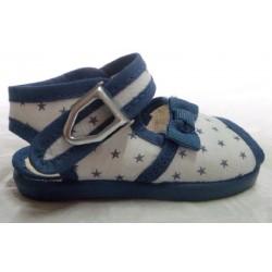 Sandalia bebé niña tela azul