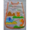 Babero grande bebé plástico naranja