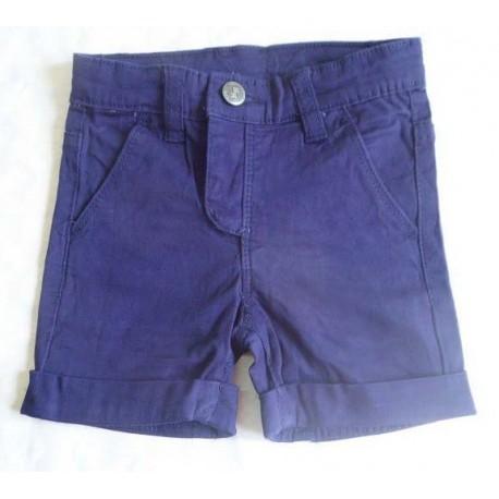 Pantalones cortos vaqueros bebés niños azul marino