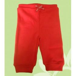 Pantalón chandal bebé niña rojo