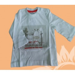 Camiseta bebé niño welcome to the zoo