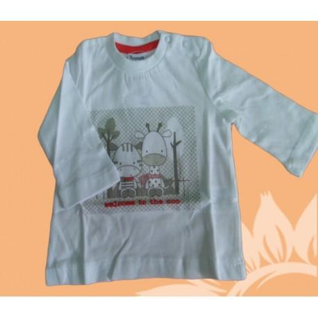 Camiseta manga larga bebé y recién nacido niño welcome to the zoo, de la marca Newness